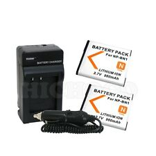 2 Battery + Charger Combo Kit For Sony NP-BN1 Cyber Shot DSC-W360 W350 W330 W320