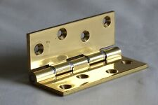 """High Quality 4""""  x 3"""" (102 x 76mm) Double Washered Polished Brass Hinge By Swing"""