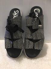 "CIRCUS by Sam Edelman Sandals ""Riley"" Gladiator style BLACK&WHITE NWOB 8M"