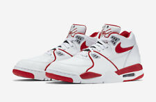 Men's Nike Air Flight 89 LE White Red Basketball Shoe 819665-100 {New with Box}