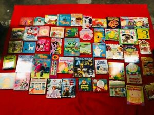 Mixed Random Lot of 30 Board Books for Childrens Kids Babies Preschool Daycare