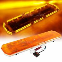 47In Amber Shell LED Warning Emergency Beacon Wrecker Tow Truck Strobe Light Bar