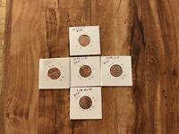 BICENTENNIAIL~LINCOLN SET~2009 COINS UNCIRCULATED~L1,L2,L3,L4 &1 FRE SHEILD COIN