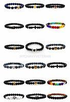 Handmade Bracelet 8MM Natural Gemstone Round Beads Stretch Men Women Fashion