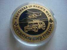 OPERATION IRAQI FREEDOM Challenge Coin + Protective Case