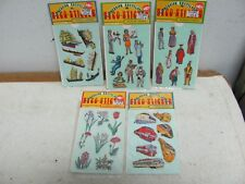 "LOT OF 5 PACKETS NOS 1960""s KUTSUWA 3-D DECO-STICKERS JAPAN"