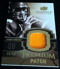 AARON RODGERS 2010 Exquisite Premium Patch GOLD SP 46/50 Packers Superbowl MVP