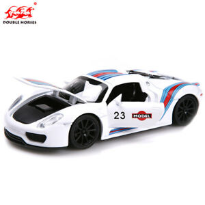 Kids Gift 1:32  PORSCHE 918 MARTINI Roadster Alloy Car Model Toys Sound Light