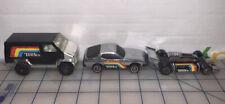 """Lot Of 3 Vintage Tonka 4"""" Van Car Racecar Black Rainbow Metal Steel Toy Car"""