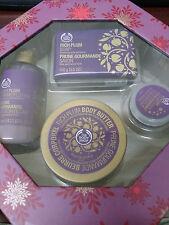 THE BODY SHOP Rich Plum Soap Shimmer Lotion Body Butter & Lip Balm Set       tu2