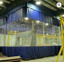 Waterproof Heavy Duty Industrial Commercial PVC Vinyl Clear Curtain Walls NEW