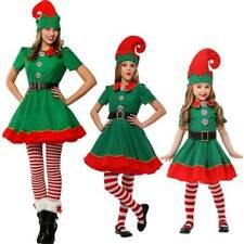 Elf Costume Women Kids Adult Christmas Fancy Dress Santa Helper Cosplay Outfit I