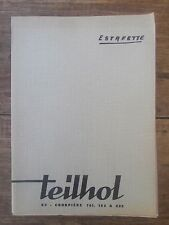 ANCIENNE BROCHURE TEILHOL RENAULT ESTAFETTE STRATURAL