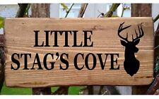 Personalised House Sign Stag / Deer Custom Outdoor Wooden Name Plate Plaque 43cm