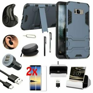 For Samsung Galaxy S8 S9 Plus Note 9 Shockproof Case Cover Accessory Bundle Kit