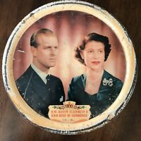 Vintage Daintee Blackpool England Philip Elizabeth Coronation Souvenir Tin