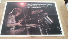 CURVED AIR / Shaftesbury Drums 1971 Giant newsprint POSTER/ Pin Up 24x16 inches