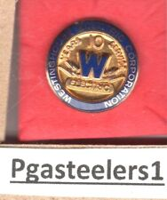 Westinghouse Electric Corporation 10 Years service  pin