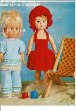Dolls clothes knitting pattern for 14 inch doll. ( V Doll 191)