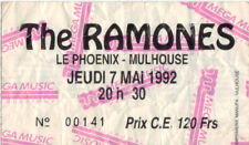 ticket billet stub used place concert THE RAMONES 1992 Mulhouse FRANCE
