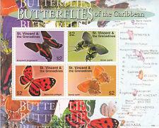 St-Vincent Grenadines MNH Sc 3569 Souvenir sheet Value $ 6.50 US $$ Butterflies