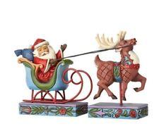 Jim Shore Mini Santa In Sleigh With Reindeer 4056609 Heartwood Creek New!
