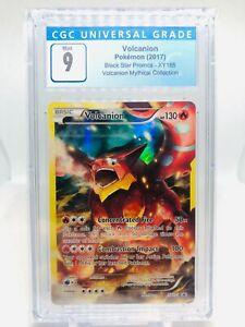 Pokemon Black Star Promos XY185 Volcanion Full Art MINT Graded CGC 9 (PSA 10)