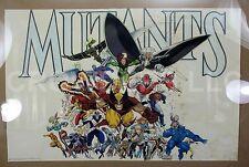"Original 1989 Marvel Press XMen MUTANTS Poster Art by Arthur Adams 22x34"" #24590"