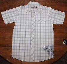 Men's  XG    Graphic    Plaid      button up  Shirt     Medium