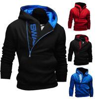 Mens Hoodie American Fleece Zip Up Jacket Sweatshirt Hooded Top Casual Sportwear