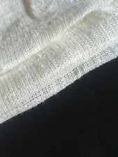 """60"""" Off-White 100% Laundered Linen Woven Fabric By the Yard"""
