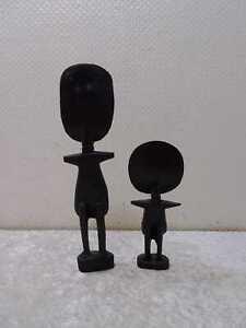 2 X Legno Figura - Stile Vintage - Handgefertigt - Africano Design