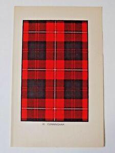 Cunningham Tartan Vintage Colour Print 1940's