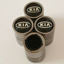 KIA LIGHT GREY DUST VALVE CAPS 13 colours NON STICK for all Models