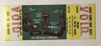 1978 Notre Dame Versus Miami Hurricanes Full Football Ticket Joe Montana