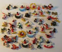 Lot of 45 Mini Miniature Wooden Christmas Ornaments-Santa Snowmen Angels Bells