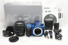 PENTAX K-30 16.3MP Digital SLR Camera Crystal Blue w/ DA 18-135mm WR #210314i
