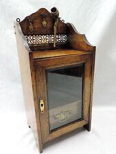 Antiguo Victoriano Eduardiano Roble fumadores gabinete Artes Artesanía Nouveau