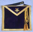 Order of the Eastern Star Patron Apron - Purple Velvet (PPOES-PVA)