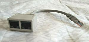 Cat5 RJ45 Ethernet Network Splitter Economiser Adapter