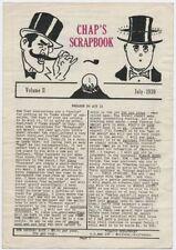 Chap'S Scrapbook Magic Magicians July 1939