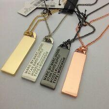Hot Sale Marc By Marc Jacobs 4 Colors Letters Tag Pendant Long Necklace #N634X