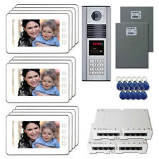 """Building Door Camera Panel Video Intercom System Kit with (11) 7"""" Color Monitor"""