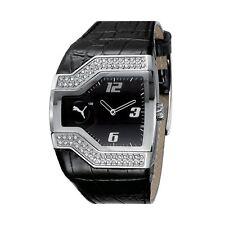 Puma Moter Sport Leder Damen Uhr STAR PODIUM schwarz Armbanduhr PU101202002 NEU!