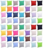 Solid Cotton European Color Sofa Cushions 45*45cm Pillow Case Home Decor
