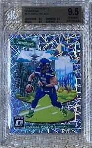2018 DONRUSS OPTIC DOWNTOWN RUSSELL WILSON BGS 9.5 CARDREGISTRY🏈LOW POP