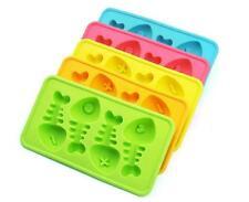 Fish Bone 3D Brick Mold Silicone Tray Chocolate Ice Cube Jelly Fun Mould