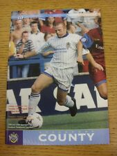 29/08/1995 Stockport County v Swansea City  (Excellent Condition)