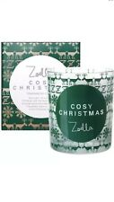 ZOELLA LIFESTYLE COSY CHRISTMAS FRAGRANCED CANDLE ~WINTER SPICE & SWEET CIN
