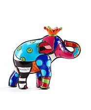 ROMERO BRITTO MINI FIGURINE: ELEPHANT IN ORANGE CROWN ** NEW ** GIFT BOX